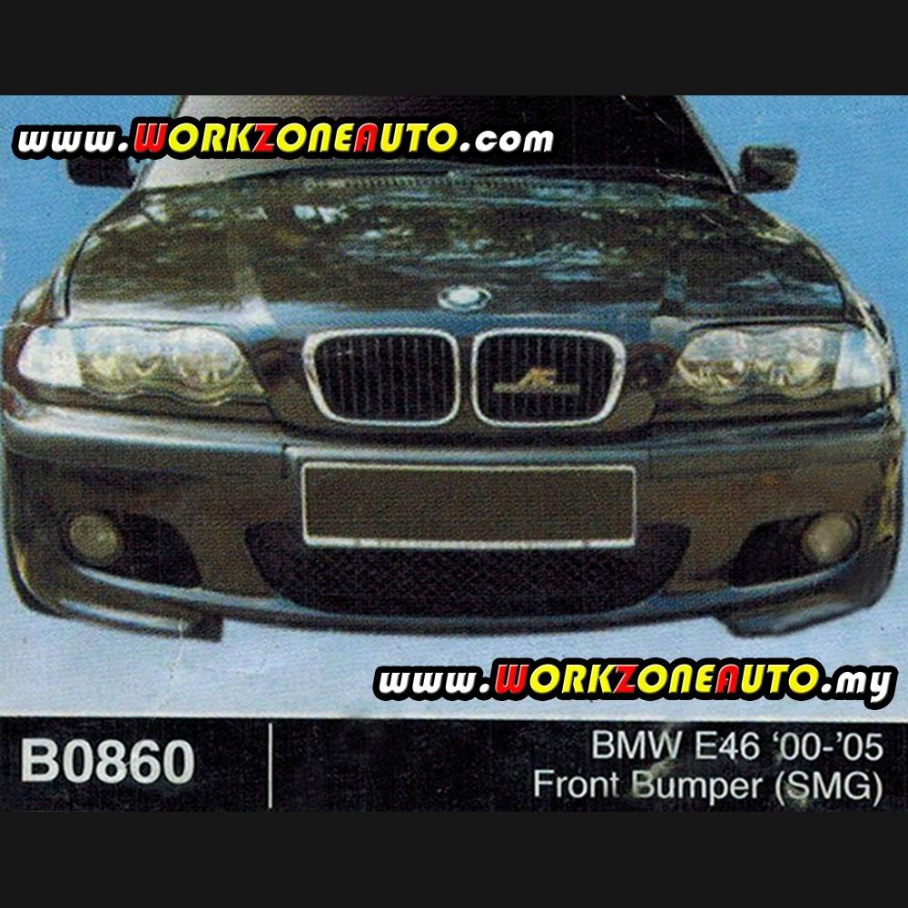 B0860 Bmw E46 00 05 Fiber Front Bumper Smg