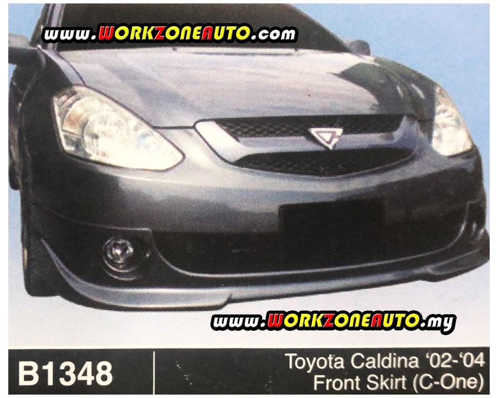 B1348 Toyota Caldina 02-04 Fiber Front Skirt (C-One)