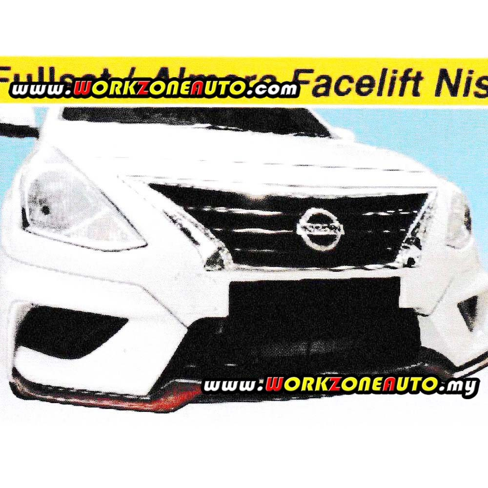 B1559 Nissan Almera 16 Facelift Fiber Front Skirt with Logo (Nismo-2)