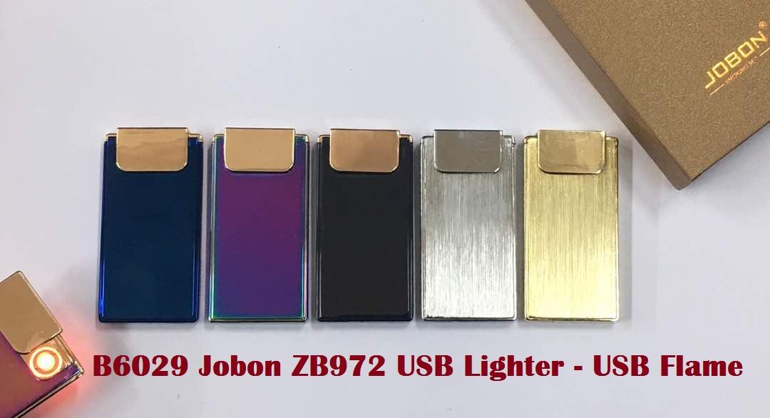 B6029 Jobon ZB972 USB Lighter- USB Flame
