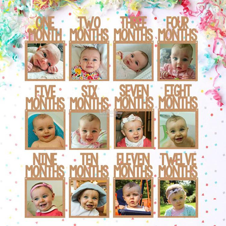12 Month Frame Wholesale Glass Baby Month Photo Frame Baby First