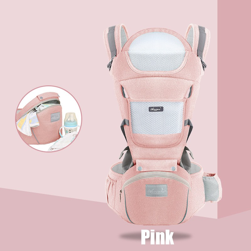 Baby Carrier Infant Comfortable Breathable Multifunctional Sl - [PINK]