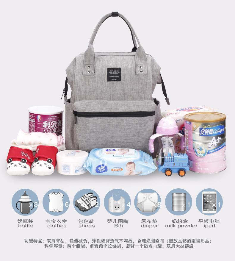 Baby Children Mommy Diaper Ny Multipurpose Backpack Bag