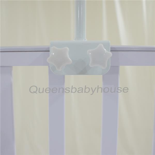 Baby Cot Mosquito Net Blue Whale With Clamp (White)
