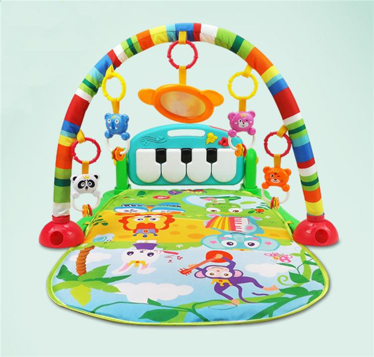 Baby Fitness Gym Pad & Piano Green
