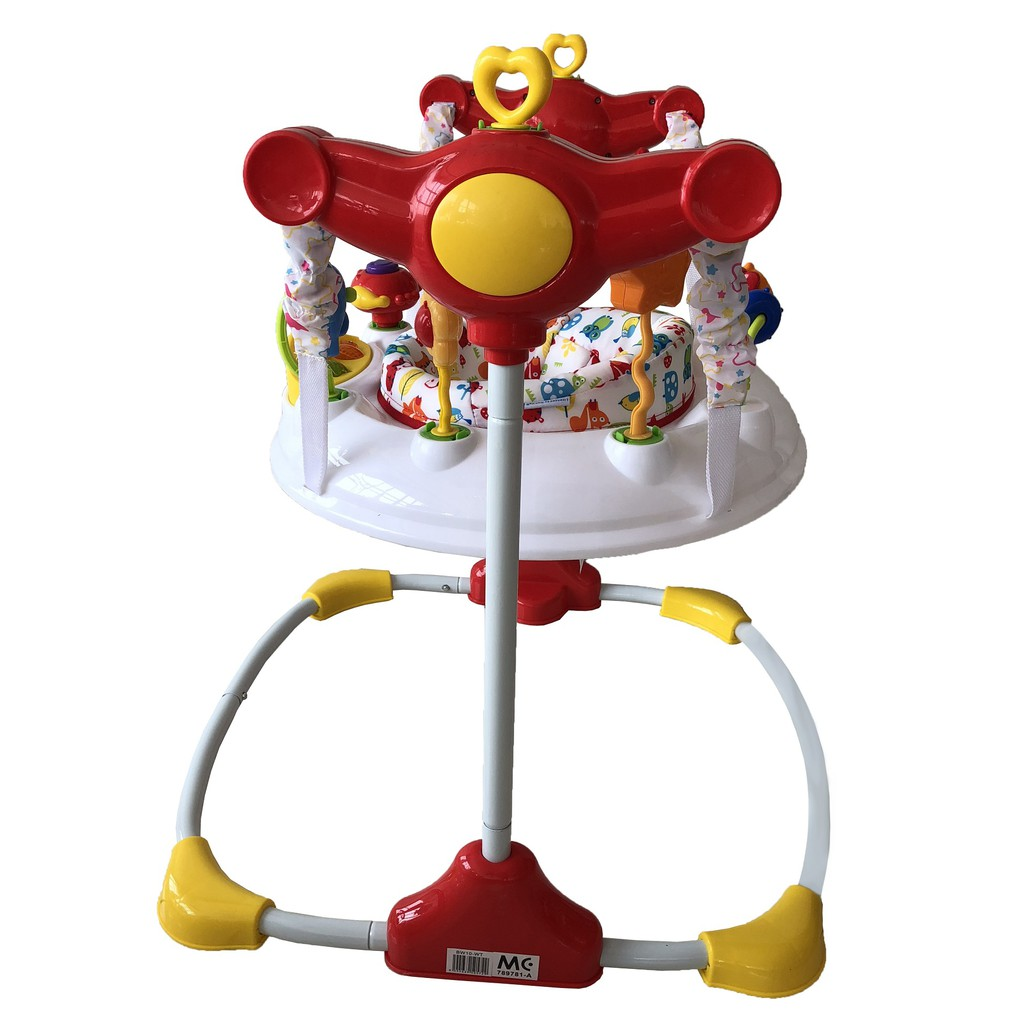 Baby Floor Jumper With 360 Degree Seat - White