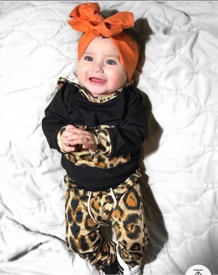 d167545de Baby Girl Leopard print Hoodie Tops (end 7/19/2021 12:00 AM)