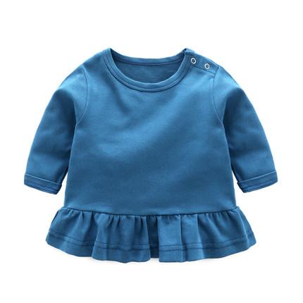 f5c9feb05 Baby Girl Plain Color Dress Long Sl (end 9/26/2021 12:00 AM)