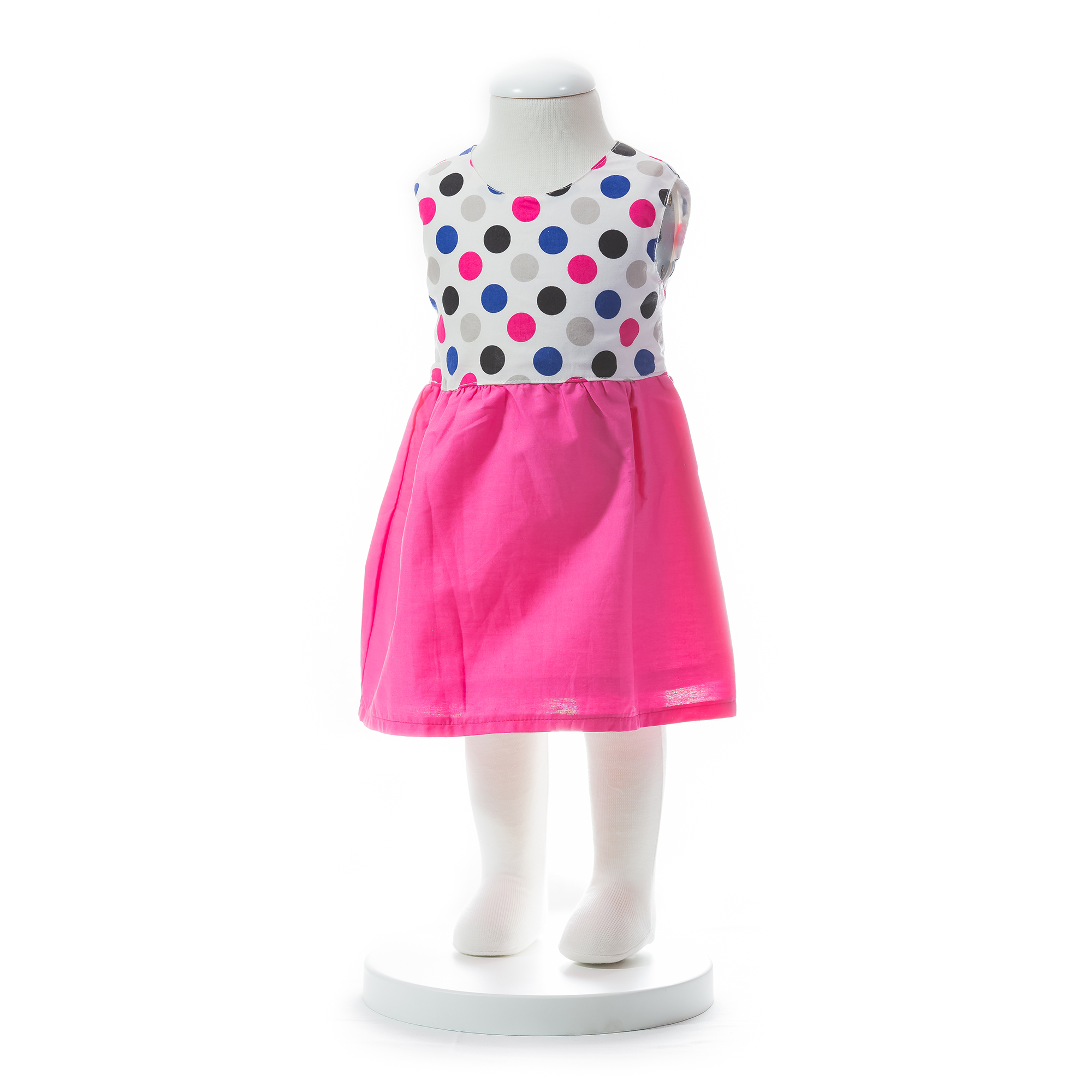 Baby Girls Dot Dress With Ribbon Sum end 3 20 2020 5 49 PM