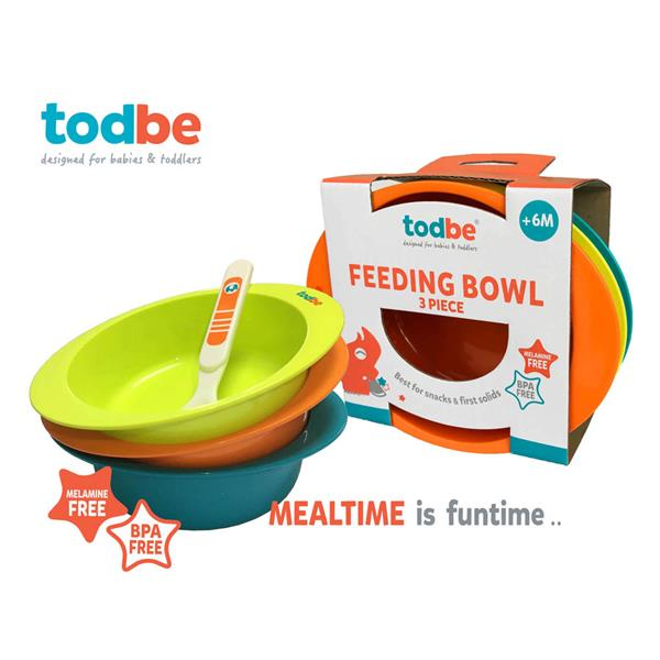 Baby Kids Bowl Feeding 3pc set! Todbe Orge