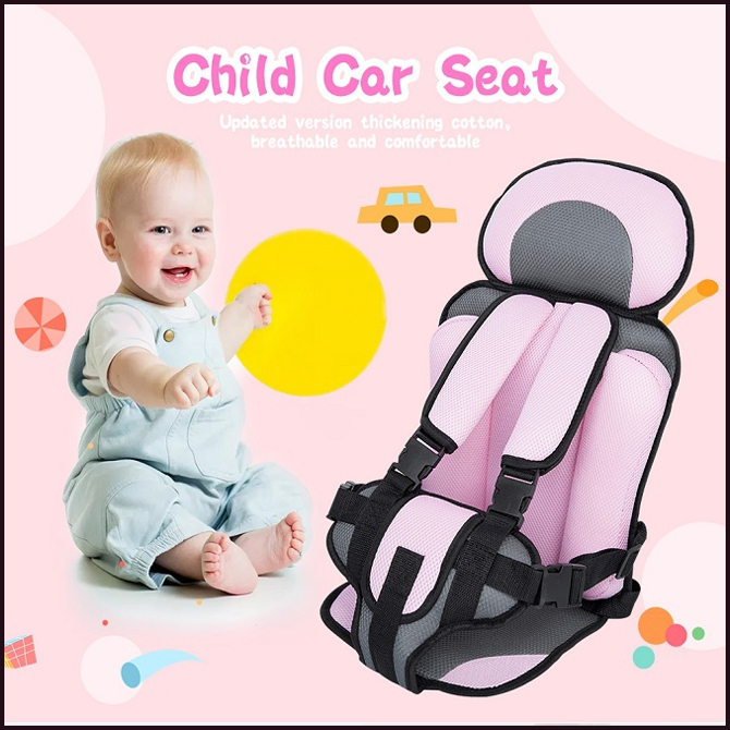 Baby Kids Simple Foldable Safety Car Seat Cushion