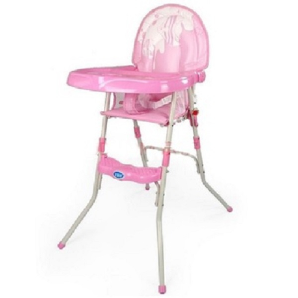 Baby Multipurpose Foldable High Chair - Pink