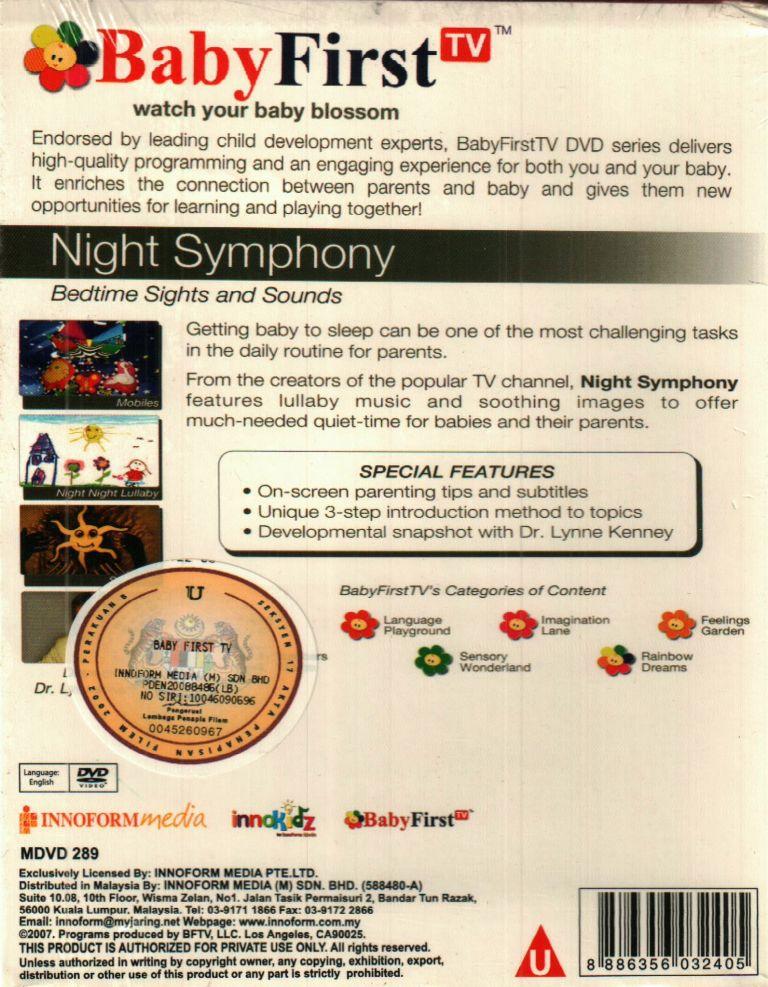 Baby First Night Symphony DVD