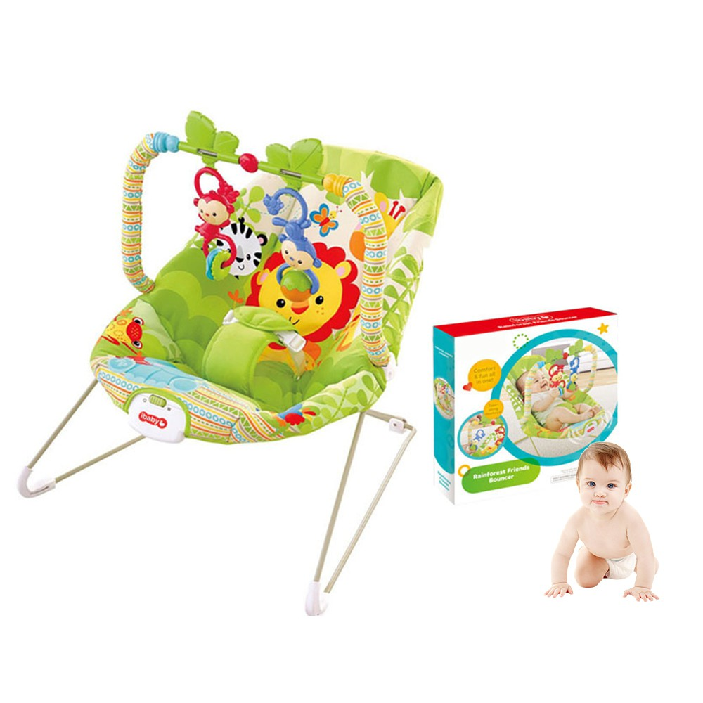 Baby Rocker Bouncer New Born Toddler Music Chair Rain Forest