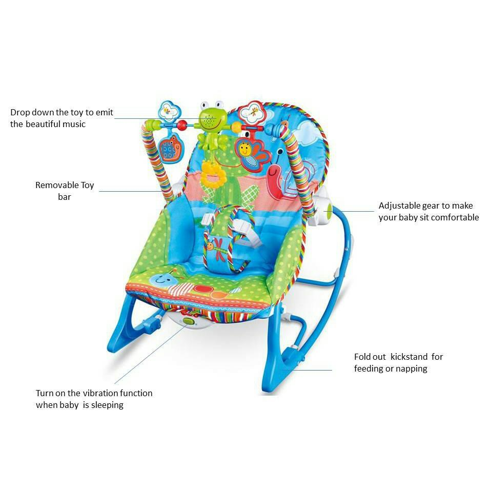 Baby Rocker Bouncer New Born Toddler Music Chair (Ready Stock)