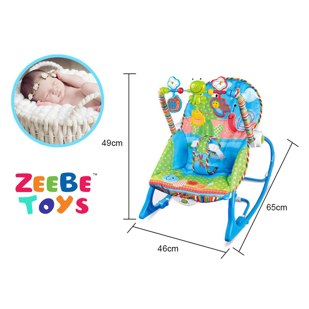 Baby Rocker Bouncer New Born Toddler Music Chair Wt Safety Belt