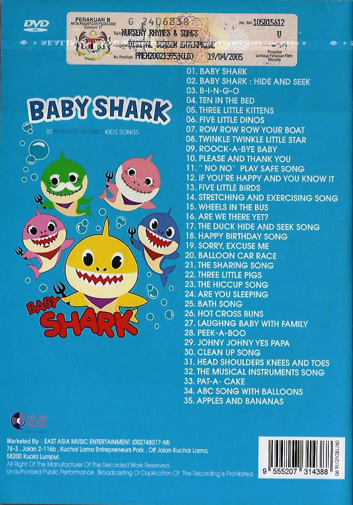 Baby Shark 35 Nursery Rhymes Kids S