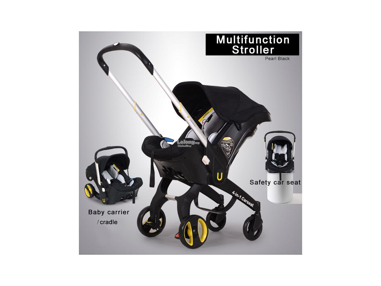 Baby Stroller Cradle Portable Carrycot Carseat 4 In 1 Pram Infant
