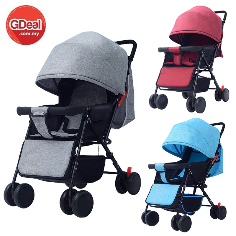 Baby Stroller Lightweight Folding 8 Wheels Canopy Baby Carrier
