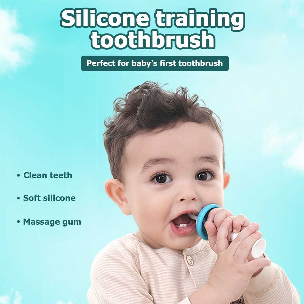 Baby Training Toothbrush Set Silicone Teether Tongue Gum Massage For Baby Infa