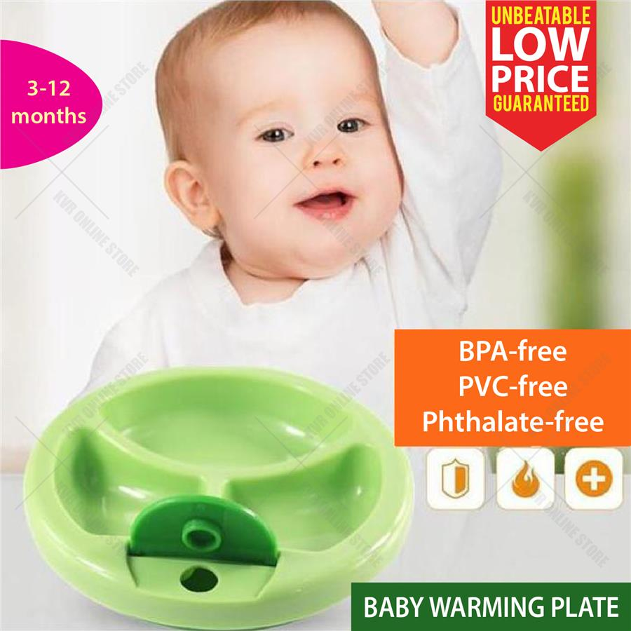 Baby Warm Keeper Plate With Spill Proof Suction Bowl Dinnerware