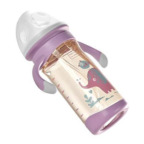 Babycare PPSU Wide Neck Milk Feeding Bottle With Handle 260ml