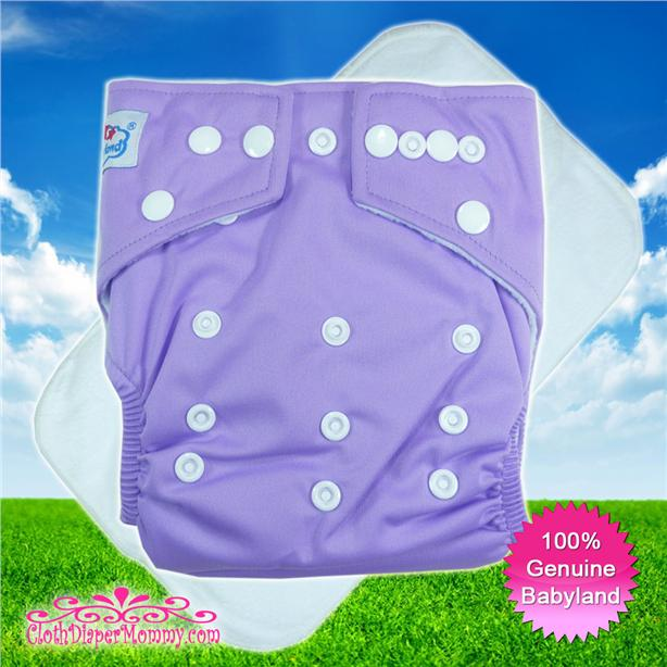 Babyland Cloth Diaper - Plain Purple