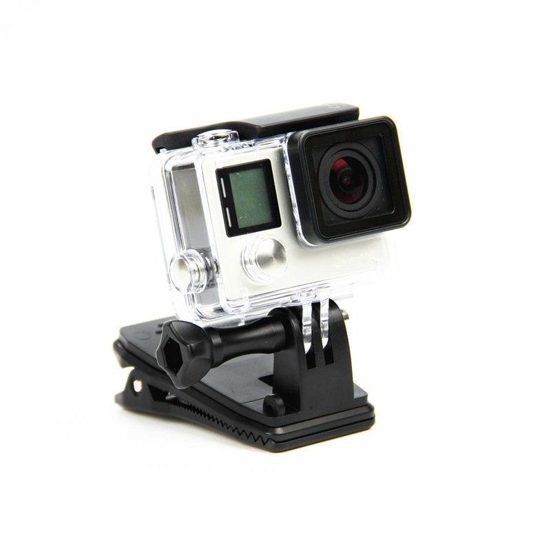 Backpack-Hat-Clip-360-Degree-Rotation-Fast-Clamp-Rec-Mount-GoPro-Hero