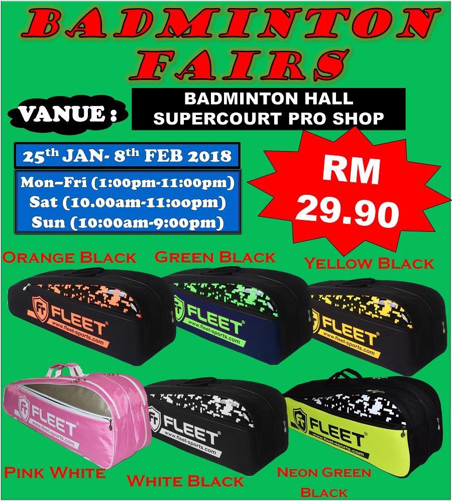 Badminton Shoes Price Harga In Malaysia Kasut Sepatu Bata Man Black 8316006 Fairs Fleet Ft11 2 Zips Bag