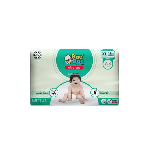 Bae Bae Diapers Ultra Dry 44pcs (XL)