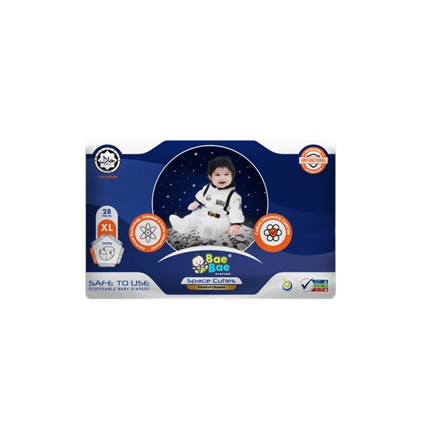 Bae Bae Space Cuties Premium Diapers 48pcs (XL)