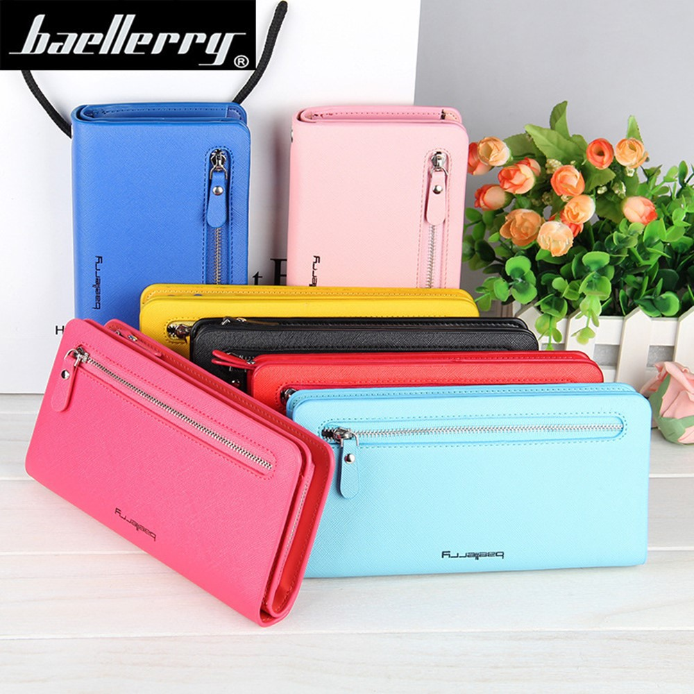 Baellerry Handphone Purse Long Zipper Wallet Wristlet