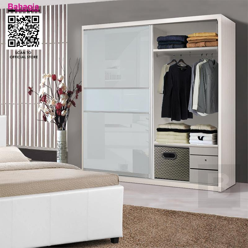 best website c80d4 de75d BAHAGIA 8' x 8' Malix Sliding Wardrobe - Anti-Jump