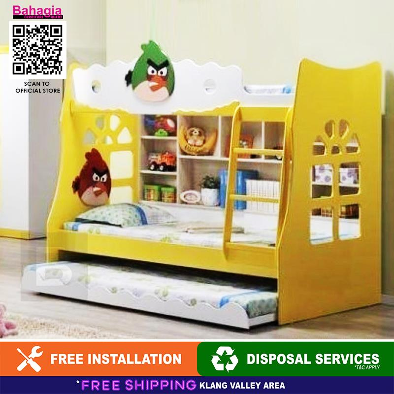 BAHAGIA Angry Bird Children Bunk Bed