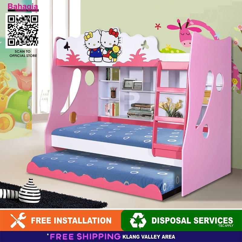 more photos 0904a 9822c BAHAGIA Hello Kitty Children Bunk Bed