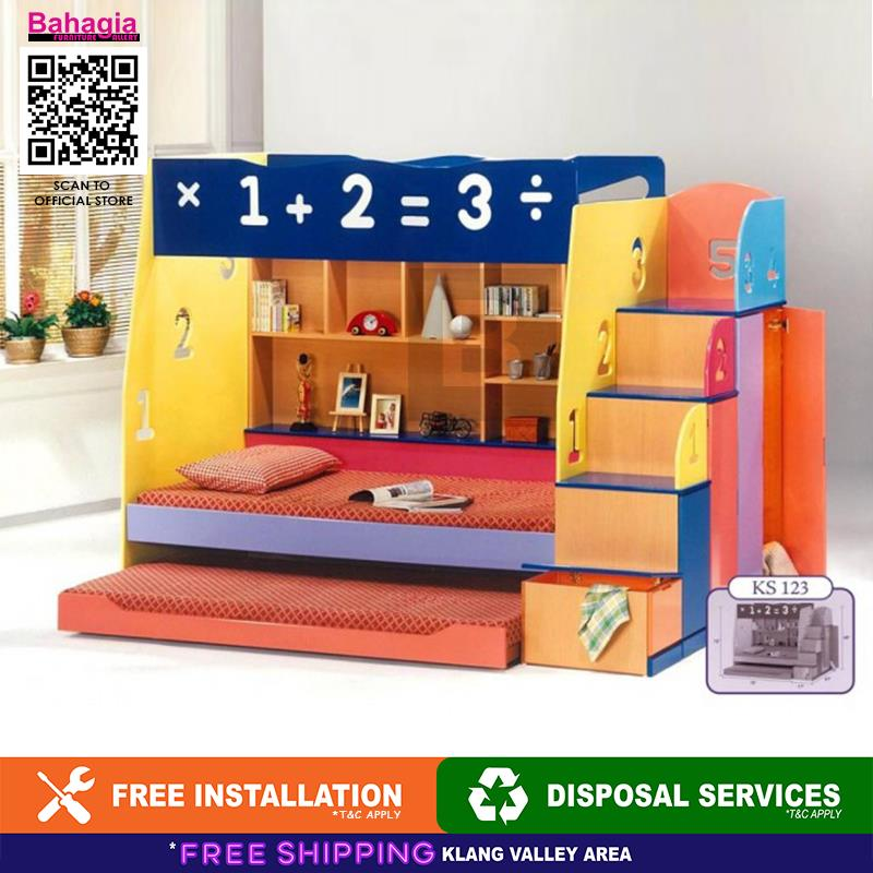 BAHAGIA Numbers Children Bunk Bed