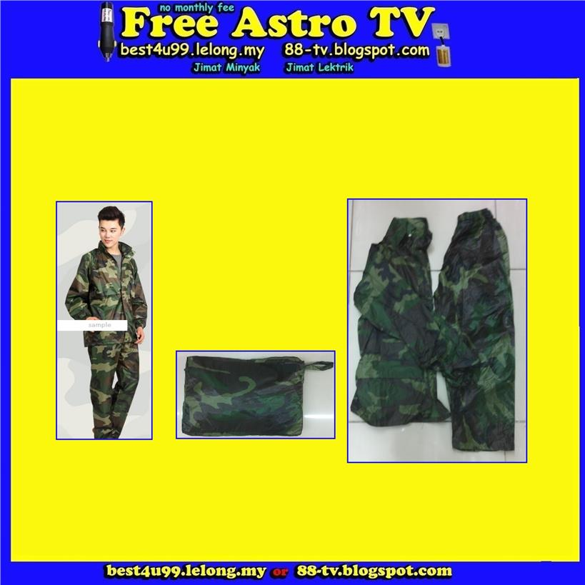 Baju Hujan Raincoat poncho child adult fit camping cam perkemahan kem