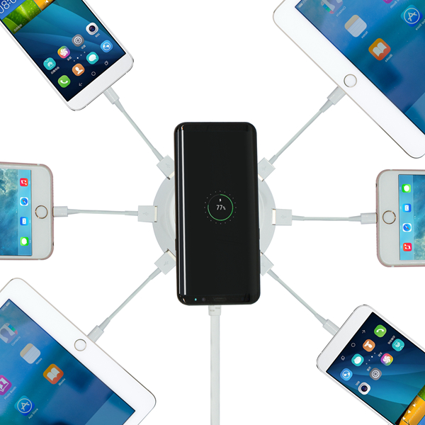 Bakeey 6 Ports 4.2A Qi Wireless Charger With LED Indicator For iPhone ..