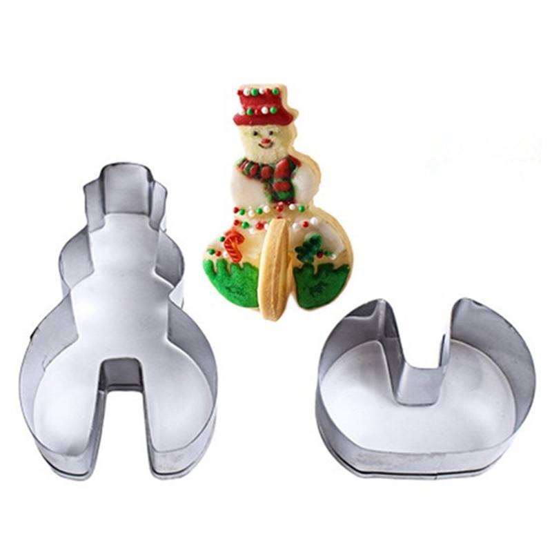 Baking Supplies - Biscuit Mold Set - 3d Christmas STEREO Cookies Cake ..