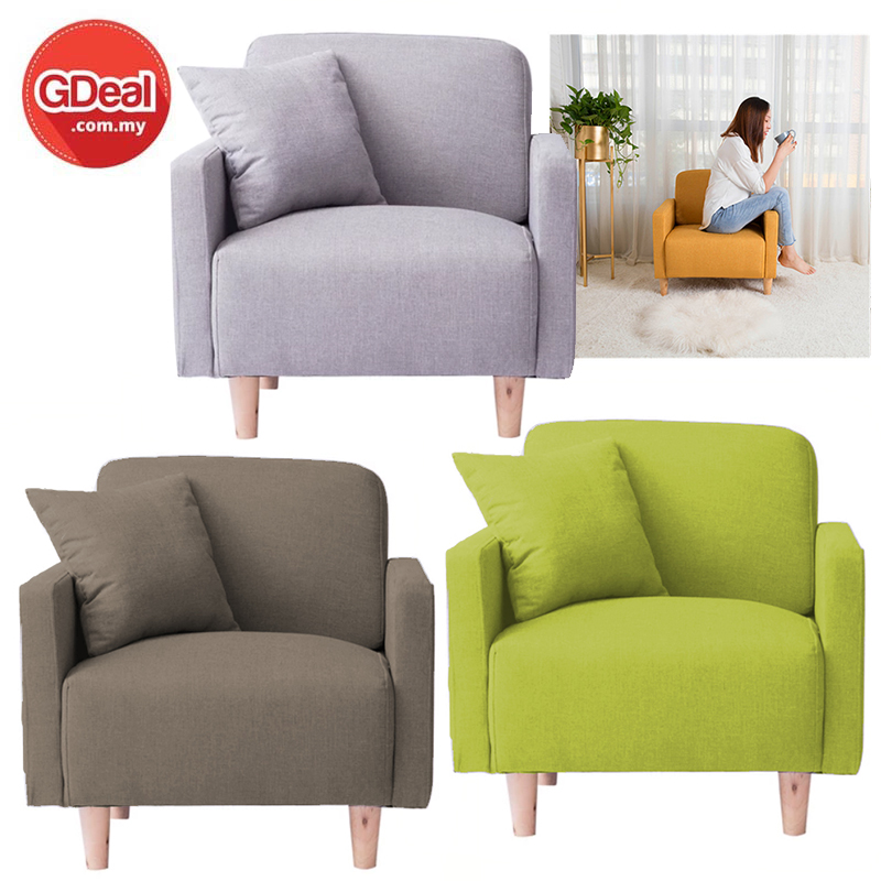 Balcony Small Sofa Minimalist Single Creative Fabric Sofa Chair