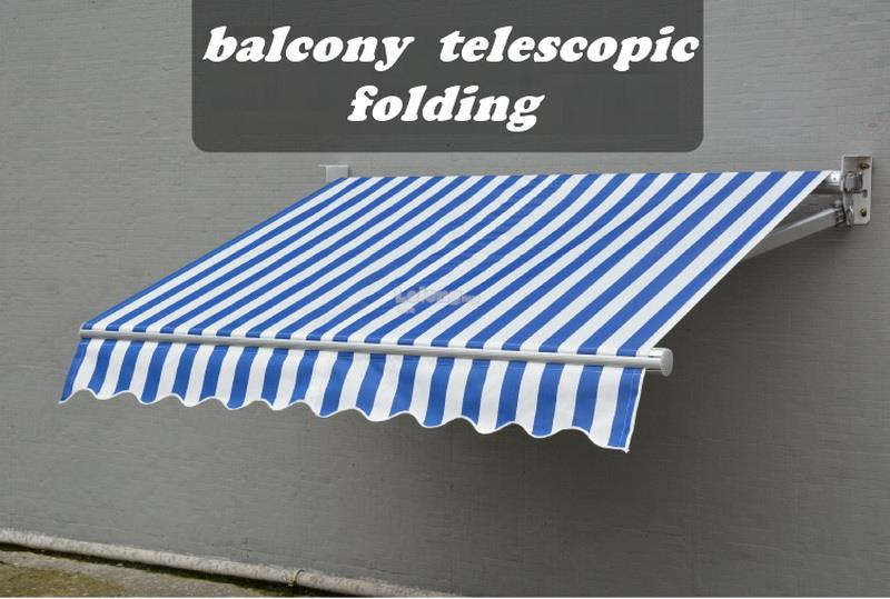 balcony telescopic folding Outdoor rain ride foldaway canopy (2000mm)