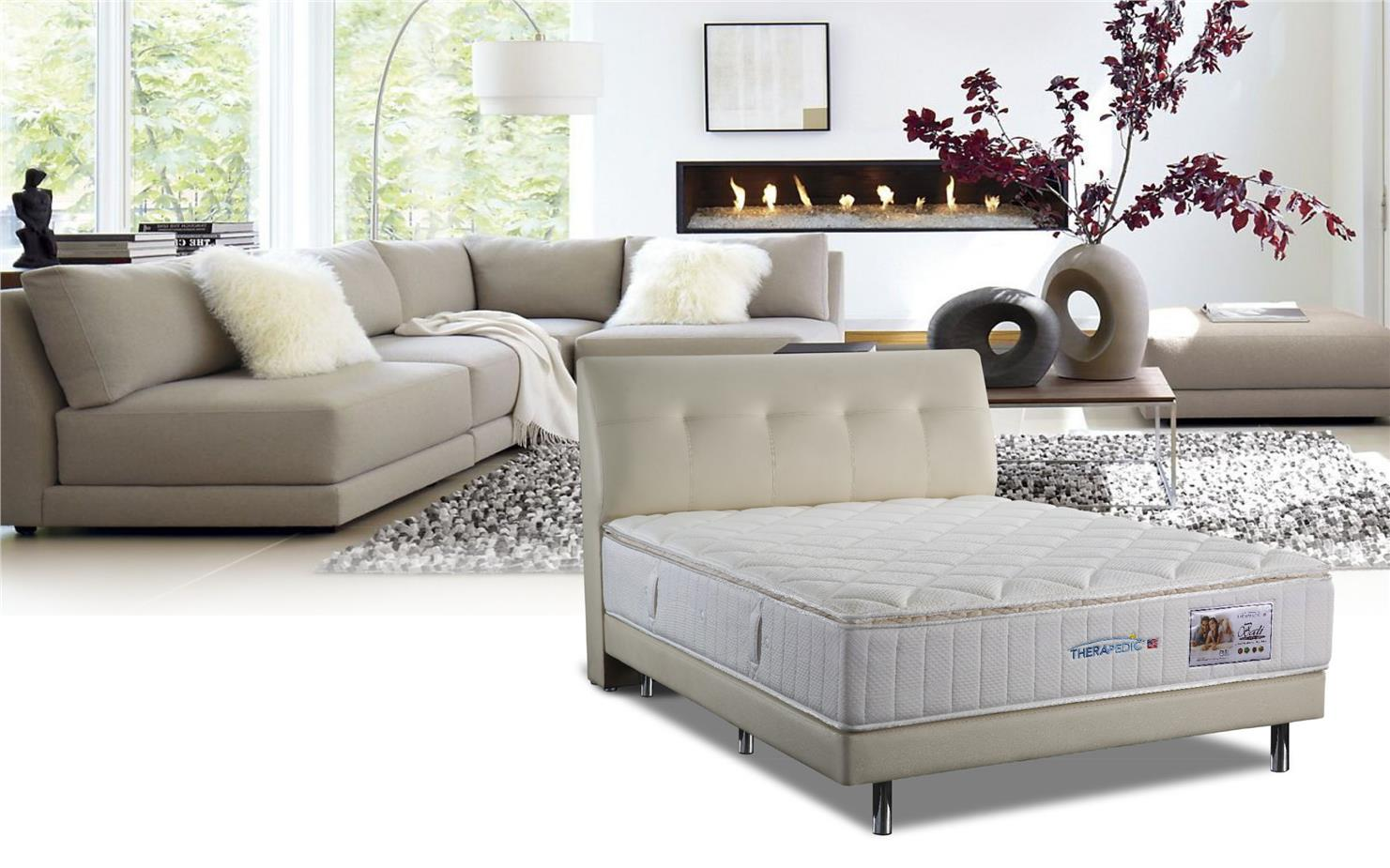 bali 5u0027 queen size aerofoam therapedic pocket spring mattress tilam
