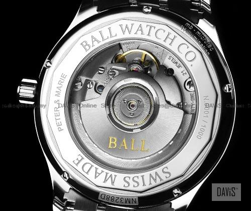 BALL Watch NM3288D-LBRJ-WH Trainmaster Standard Time 135th Anniversary