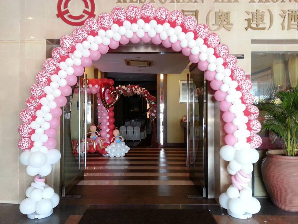 Balloon arch wedding theme end 3 3 2016 5 39 pm for Balloon decoration for wedding malaysia