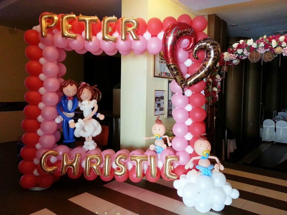 Balloon photo booth wedding theme end 3 3 2016 5 39 pm for Balloon decoration for wedding malaysia