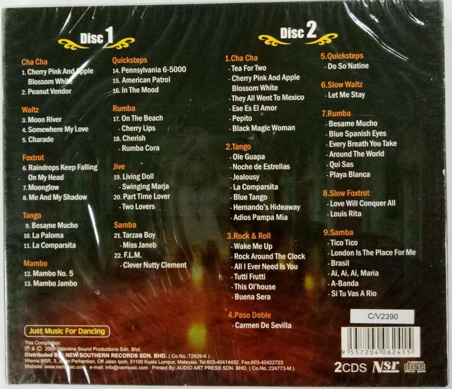 Ballroom Dance 2CD 64 Music For Dance Cha Cha Mumbo Rumba Samba