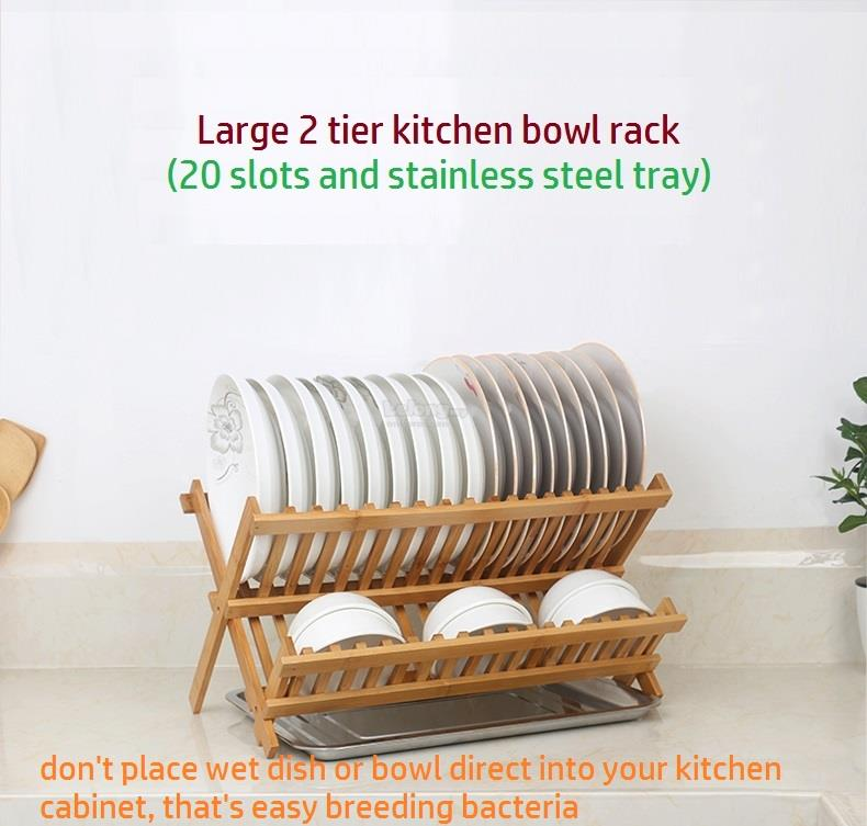 Bamboo Disk Rack Plate Holder Utensil Drainer Free Stainless Steel  sc 1 st  Lelong.my & Bamboo Disk Rack Plate Holder Uten (end 11/9/2018 2:15 PM)
