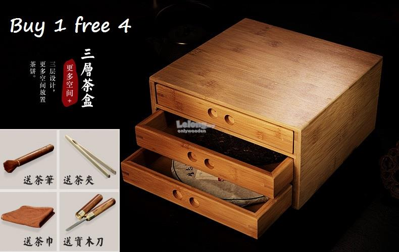 Bamboo Wood Chinese Pu Er Tea Storage Box, Puu0027er Tea Cake Boxes. U2039 U203a