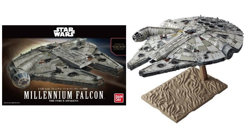 Bandai Star Wars Millennium Falcon The Force Awakens 1/144 Scale