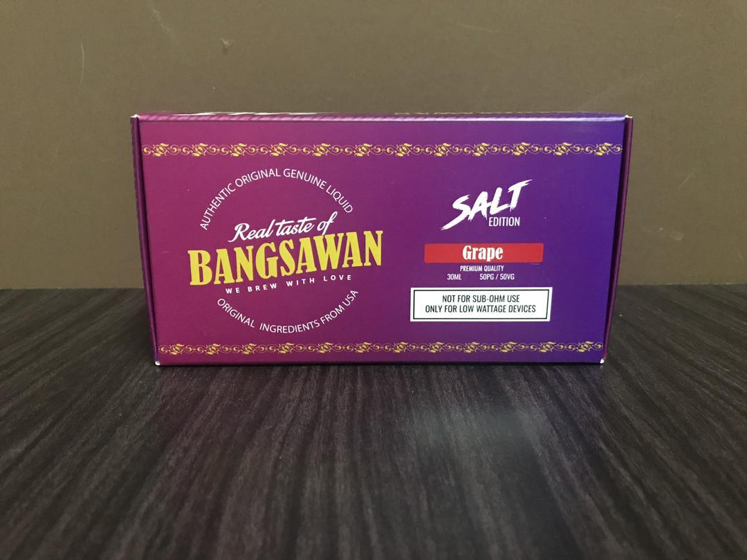 Bangsaawan Salt Grape (35MG @ 30ML ) E Liquid Vape Juice